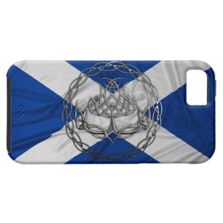 Chrome Celtic Knot Thistle Case For The iPhone 5