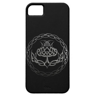 Chrome Celtic Knot Thistle iPhone 5 Covers
