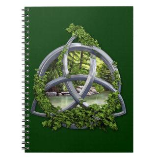Chrome Celtic Trinity Knot Notebooks