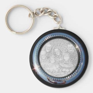 Chrome Circle template ~ keychain