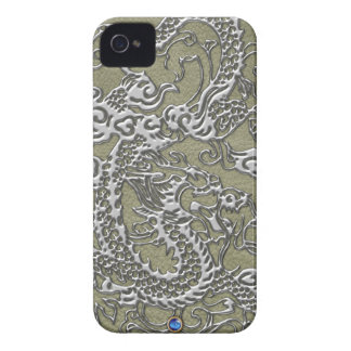Chrome Dragon - Olive Leather Texture Blackberry iPhone 4 Case-Mate Cases