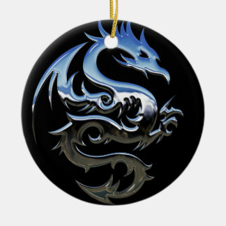 Chrome Dragon Ornament