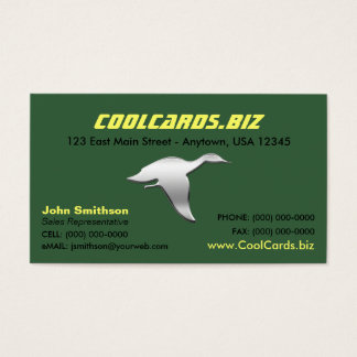 Chrome Duck Silhouette Business Card