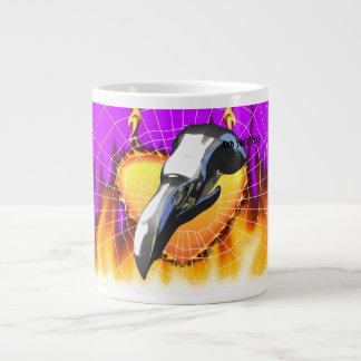 Chrome eagle skull design 2 with fire and web jumbo mug