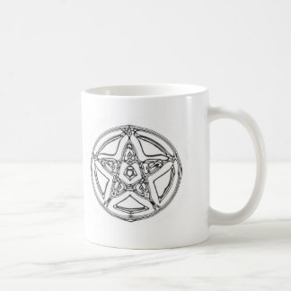 Chrome effect Pentacle Mug