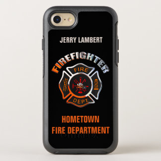 Chrome Firefighter Name Template OtterBox Symmetry iPhone 8/7 Case
