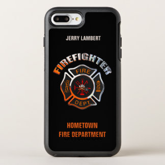 Chrome Firefighter Name Template OtterBox Symmetry iPhone 8 Plus/7 Plus Case
