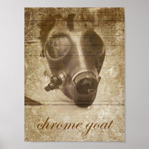Chrome Goat gasmask design. Posters