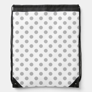 Chrome Grey Polka Dots Circles Backpacks