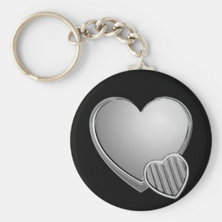 Chrome Hearts Basic Round Button Key Ring