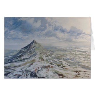 Chrome Hill, Peak District England. Greeting card, Card