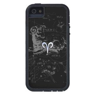 Chrome like Aries Zodiac Symbol on Hevelius iPhone 5 Covers