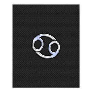 Chrome Like Cancer Zodiac Sign 11.5 Cm X 14 Cm Flyer