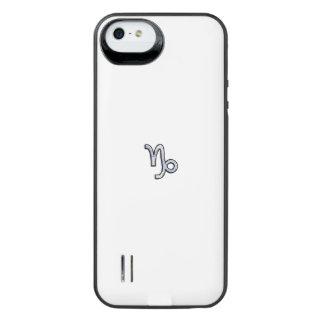 Chrome like Capricorn Zodiac Sign on Hevelius iPhone 6 Plus Case