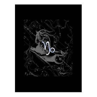Chrome like Capricorn Zodiac Sign on Hevelius Postcard