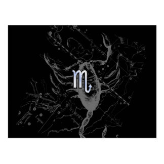 Chrome like Scorpio Zodiac Sign on Hevelius 1690 Postcard