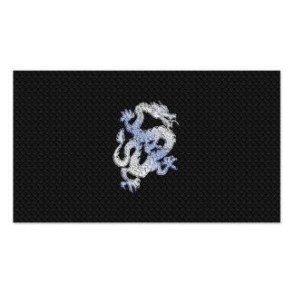 Chrome like silver Dragon Black Snake Skin style Pack Of Standard Business Cards