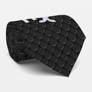 Chrome Like Virgo Zodiac Sign on snake skin Tie