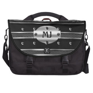 Chrome Look Silver Metal Black Mens Commuter Bags