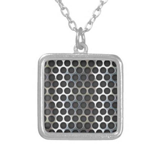 Chrome, metal mesh looking steel design pendants