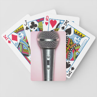 Chrome Microphone Bicycle Playing Cards