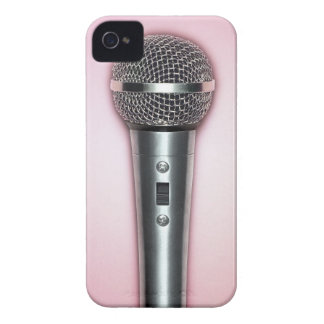 Chrome Microphone iPhone 4 Cases