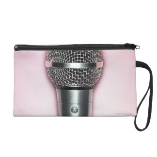 Chrome Microphone Wristlet Purses