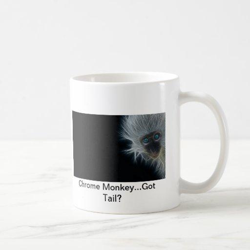 Chrome Monkey Ceramic 15 oz Coffee Mug
