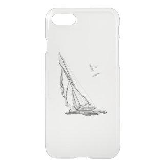 Chrome Nautical Sail Boat iPhone 7 Case