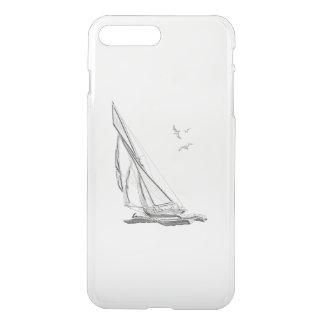 Chrome Nautical Sail Boat iPhone 7 Plus Case