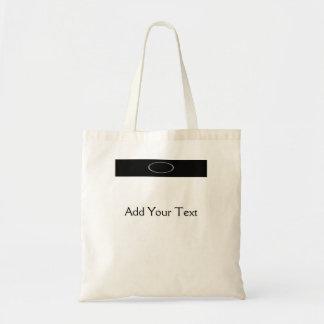 Chrome on Black Budget Tote Bag