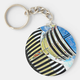 Chrome on the Chevy Basic Round Button Key Ring