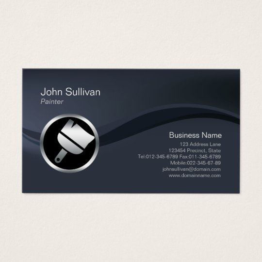 Chrome Paint Brush Icon Painter Business Card
