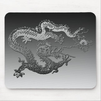 Chrome Paint Dragon Mouse Mat