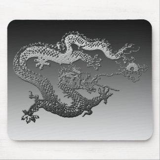 Chrome Paint Dragon Mouse Pad