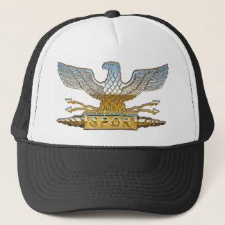 Chrome Roman Eagle Trucker Hat