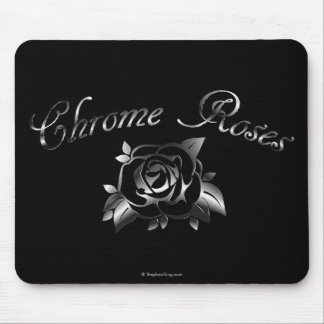 Chrome Roses Mouse Pad