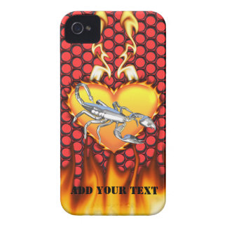 Chrome Scorpion 1 with Candy Apple Honeycomb iPhone 4 Cases