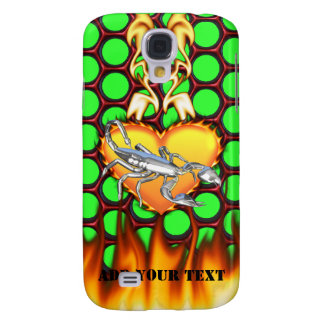 Chrome Scorpion 1 with Candy Apple Honeycomb Galaxy S4 Case