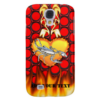 Chrome Scorpion 1 with Candy Apple Honeycomb Galaxy S4 Cover