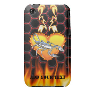Chrome Scorpion 1 with Candy Apple Honeycomb iPhone 3 Cover
