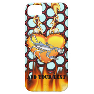 Chrome Scorpion 1 with Candy Apple Honeycomb iPhone 5 Cover