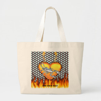 Chrome Scorpion 1 with Candy Apple Honeycomb Jumbo Tote Bag