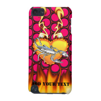 Chrome Scorpion 1 with Candy Honeycomb iPod Touch (5th Generation) Cover