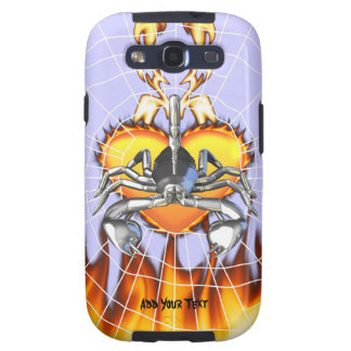 Chrome scorpion design 3 with fire and web galaxy s3 covers