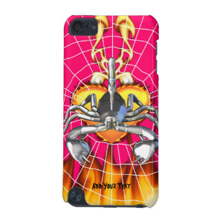 Chrome scorpion design 3 with fire and web iPod touch (5th generation) covers