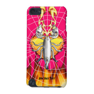 Chrome scorpion design 4 with fire and web iPod touch 5G case