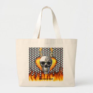 Chrome Skull and candy apple red honeycomb Tote Bag