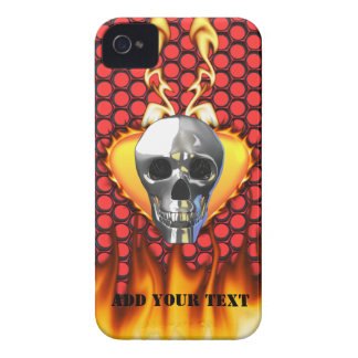 Chrome Skull and candy apple red honeycomb Blackberry Bold Cover