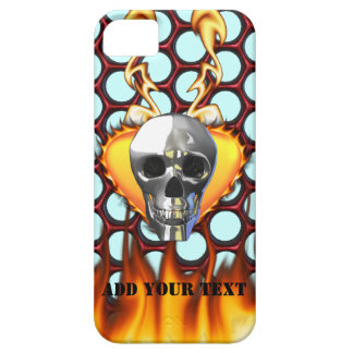 Chrome Skull and candy apple red honeycomb iPhone 5 Cases